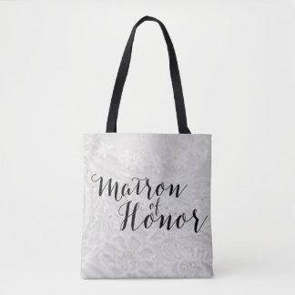 Matron of Honor Gift Bridal Canvas Tote Bag