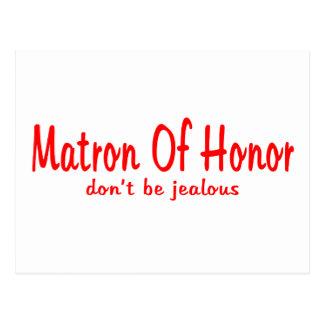 Matron Of Honor Jealousy Postcard