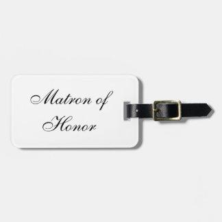 """Matron of Honor"" Luggage Tag"