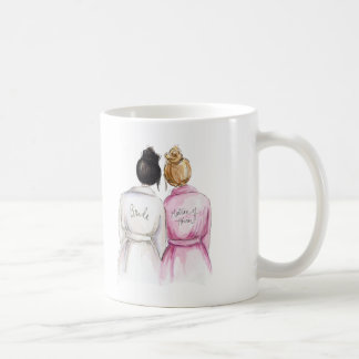 Matron of Honor? Mug Black Bun Bride Dk Bl Maid