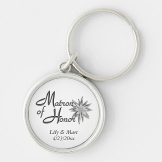 Matron of Honor Personalized Key Ring