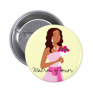 Matron Of Honor Pink Wedding Gown Button