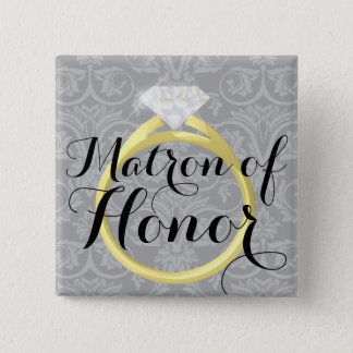Matron of Honor Ring Bridal Wedding Party Button