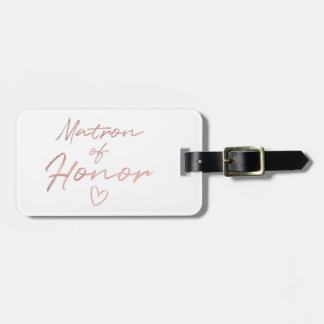 Matron of Honor - Rose Gold faux foil Luggage Tag