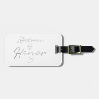 Matron of Honor - Silver faux foil Luggage Tag
