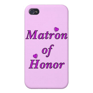 Matron of Honor Simply Love Case For The iPhone 4