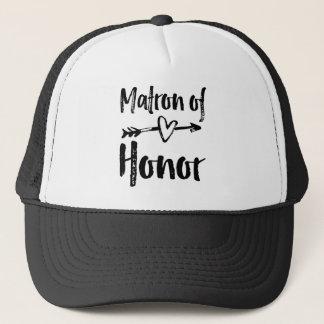 Matron of Honor T-Shirt Trucker Hat