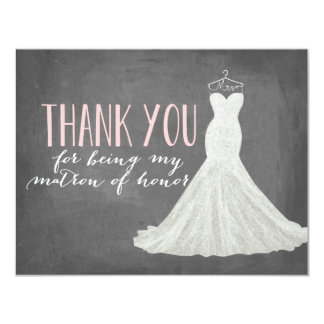 Matron Of Honor Thank You | Bridesmaid 11 Cm X 14 Cm Invitation Card