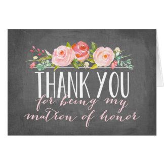 Matron of Honor Thank You | Bridesmaid Note Card
