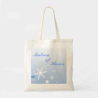 Matron of Honor Winter Wedding Budget Tote Bag
