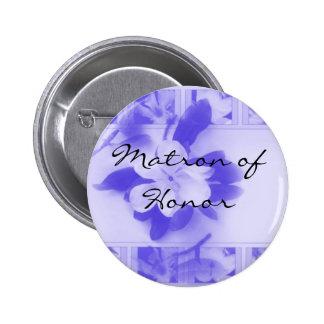 Matron of Honour 6 Cm Round Badge