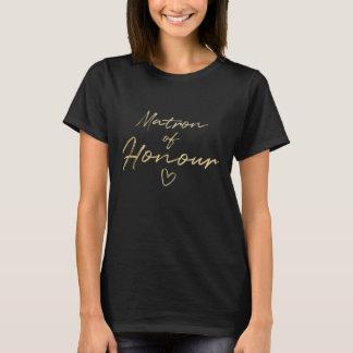 Matron of Honour - Gold faux foil t-shirt