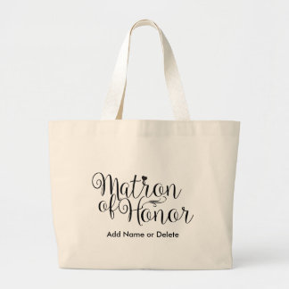 Matron of Honour Large Tote Canvas Tote Bag