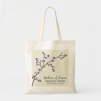 Matron of Honour Wedding Party Gift Bag (plum)