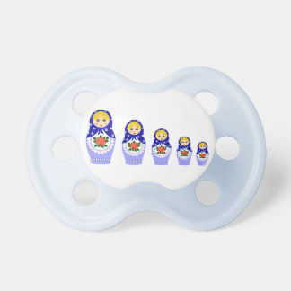 Matryoschka dolls baby pacifier