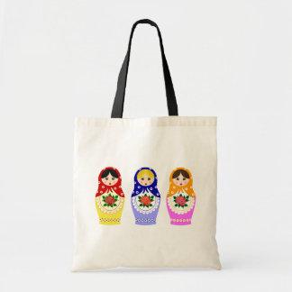 Matryoschka dolls canvas bags