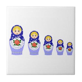 Matryoschka dolls tile