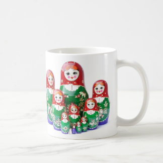 Matryoshka - матрёшка (Russian Dolls) Basic White Mug