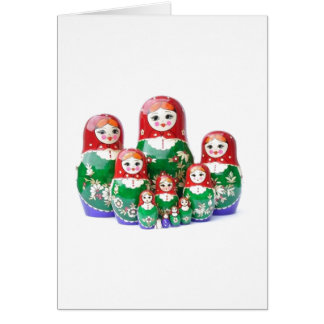 Matryoshka - матрёшка (Russian Dolls) Greeting Card