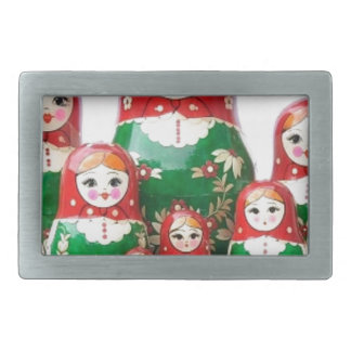 Matryoshka - матрёшка (Russian Dolls) Rectangular Belt Buckle