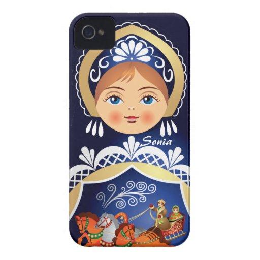 Matryoshka  Babushka Russian Doll Blackberry Case