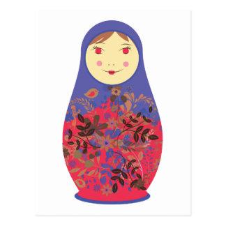 Matryoshka Doll 2 ~ Russian / Babushka Nesting Postcard