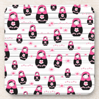 Matryoshka doll pattern coaster