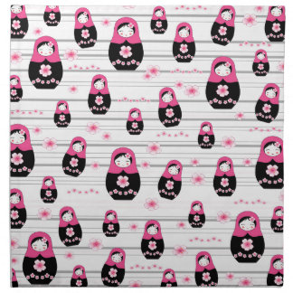 Matryoshka doll pattern napkin