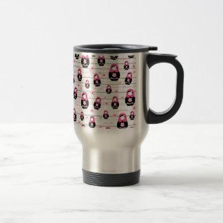 Matryoshka doll pattern travel mug