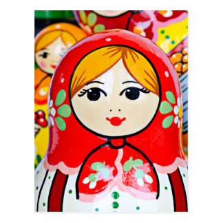 Matryoshka Doll Postcard