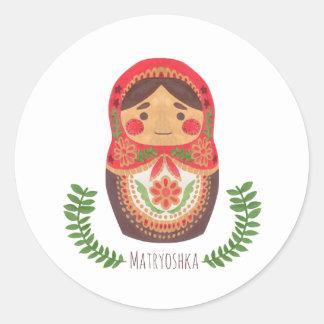 Matryoshka Doll Round Sticker