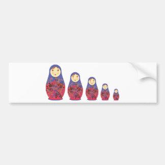 Matryoshka Doll ~ Russian Nesting / Babushka Bumper Sticker