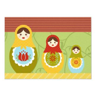 Matryoshka Dolls Customized Birthday Invitation