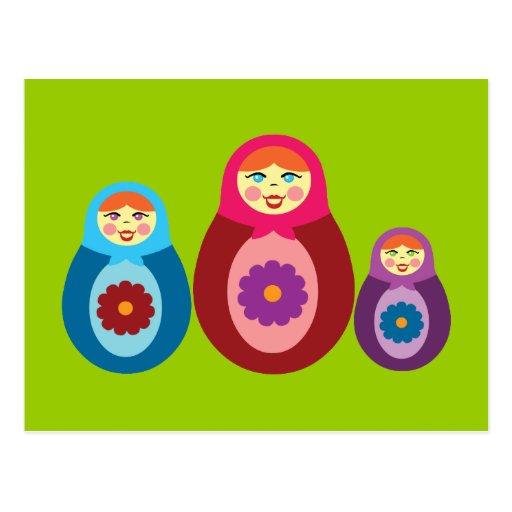 Matryoshka Dolls Post Card