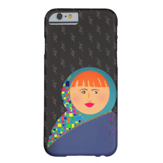 Matryoshka Flowers Pattern Beautiful Woman Red Barely There iPhone 6 Case