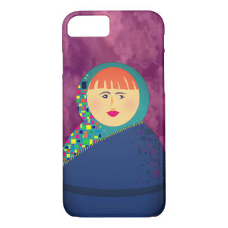 Matryoshka Russian Doll Purple Clouds Hipster Chic iPhone 8/7 Case