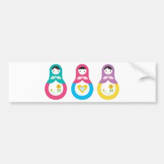 Matryoshka Russian Dolls Bumper Sticker