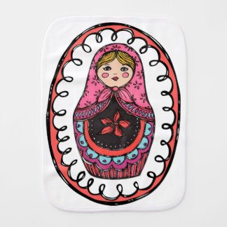 Matryoshka, Russian Nesting Doll Burb Cloth