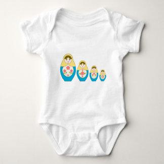 Matryoshka Russian Nesting Dolls Baby Bodysuit