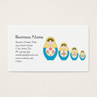 Matryoshka Russian Nesting Dolls Business Card