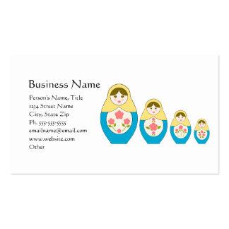 Matryoshka Russian Nesting Dolls Business Card Templates