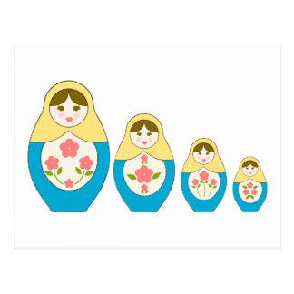Matryoshka Russian Nesting Dolls Postcard