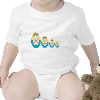 Matryoshka Russian Nesting Dolls Bodysuit