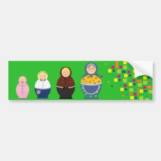 Matryoshka Stages Of Life Illustration Bumper Sticker