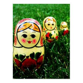 Matryoshka Ukrainian Folk Art Postcard
