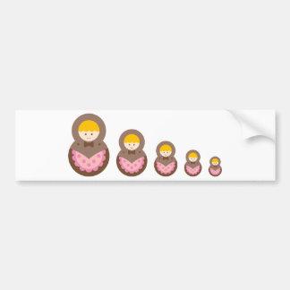 matryoshkadiecutB3 Bumper Sticker