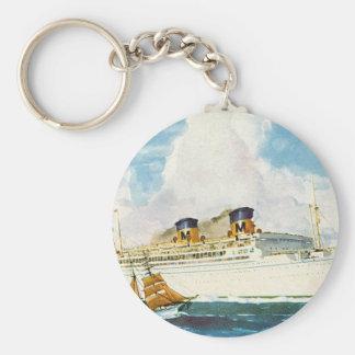 Matson Liner to Hawaii Basic Round Button Key Ring