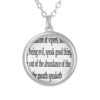 Matt. 12:34,w silver plated necklace