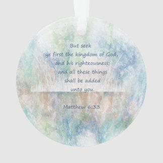 Matt 6:33 Seek Ye First God Bible Scripture