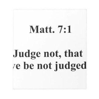 Matt 7 notepad